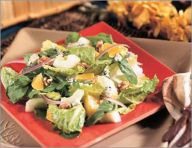 Orange-walnut salad
