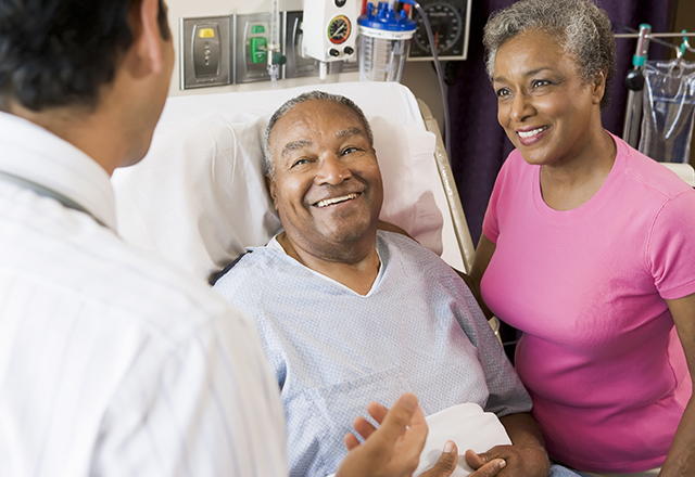 aortic disease - doctor talking to couple