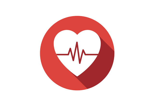 ventricular assist devices - red heart icon