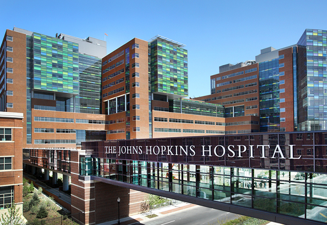 Johns Hopkins Hospital Zayed Tower Bridge