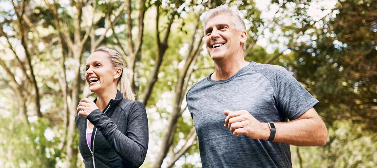 couple jogging outside - electrophysiology and arrhythmia center