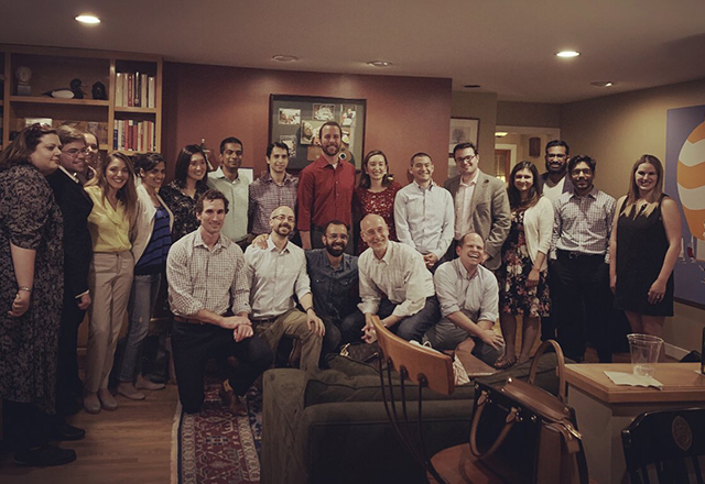 Group picture of cardiology fellows