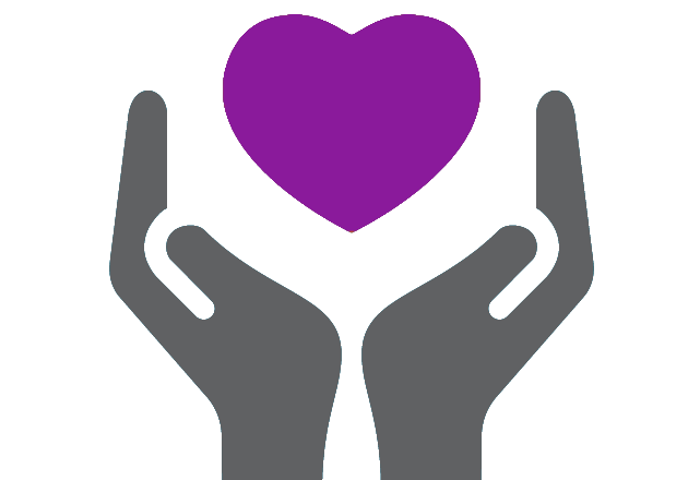 hands holding heart icon - pediatric cardiology
