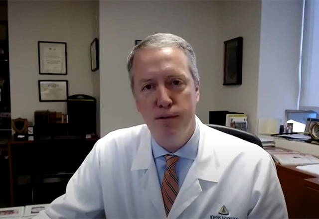 Dr. James Black speaks from his office.