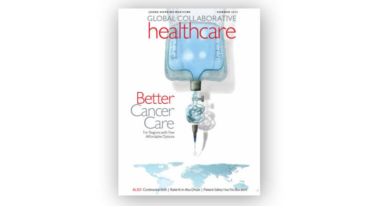 Magazine cover of Global Collaborative Healthcare's first issue.