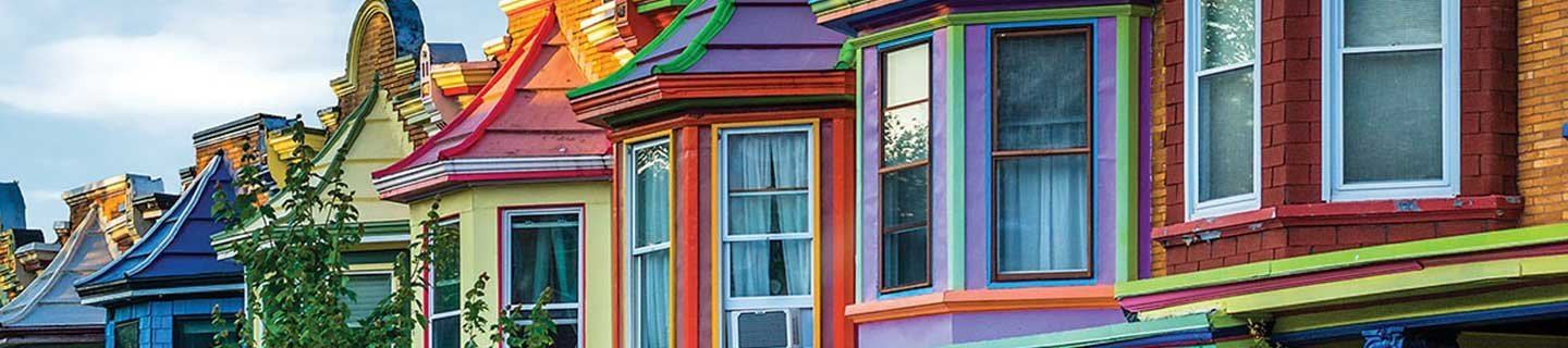 Colorful Baltimore townhouses