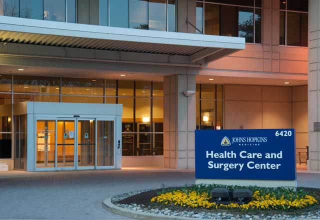 Exterior shot of the Health Care and Surgery Center in Bethesda.
