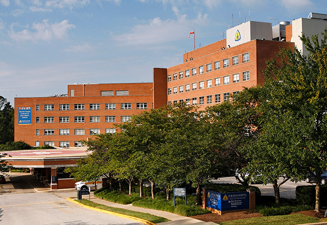 Suburban Hospital front entrance