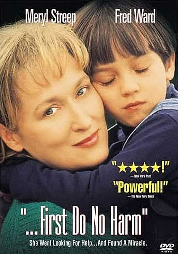 Movie poster of First Do No Harm featuring Meryl Streep and Fred Ward.