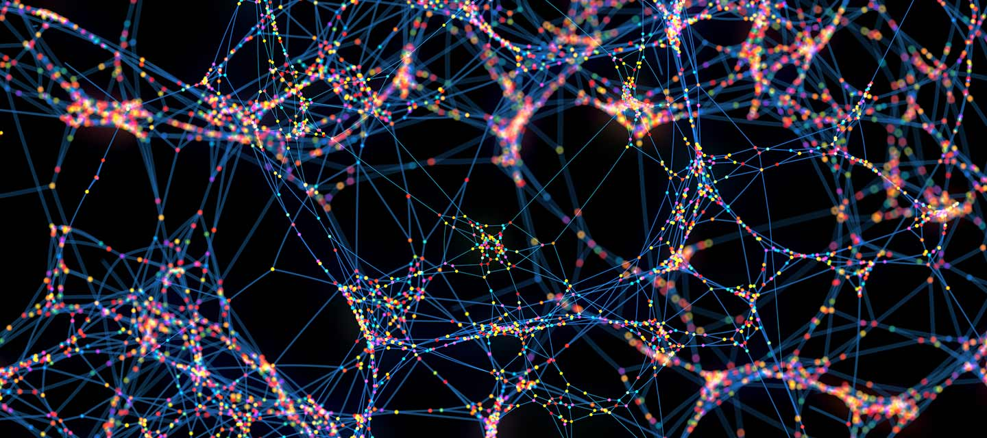 Abstract illustration of brain neurons.