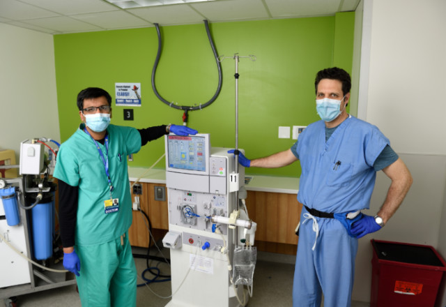An image shows Dr. Parikh and Dr. Fine.