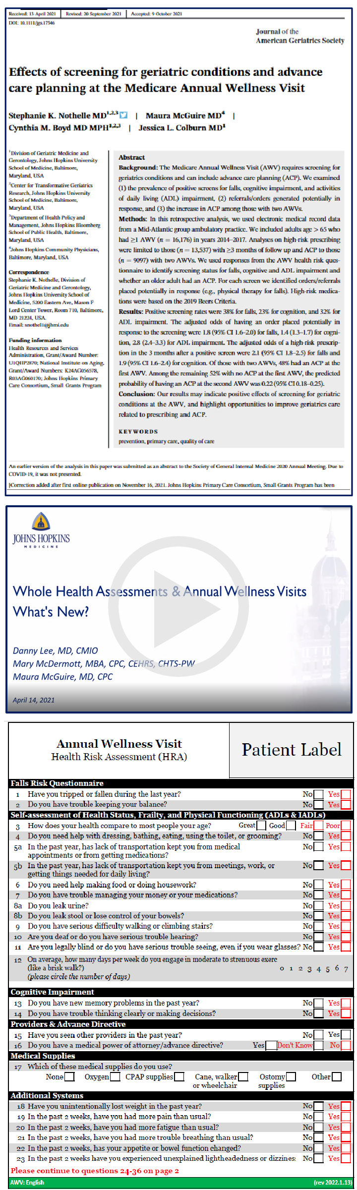 Medicare and Annual Wellness Visits