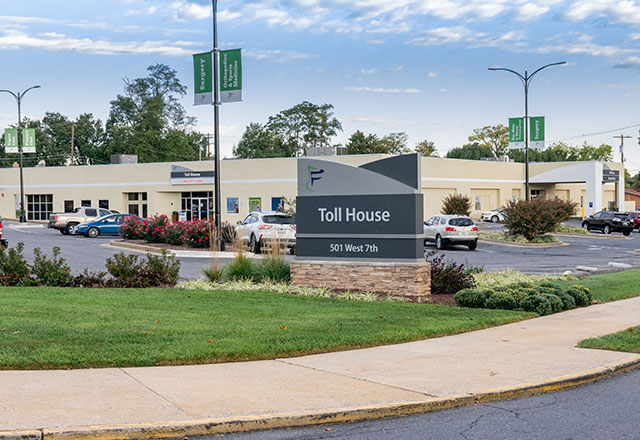 Outside view of the Frederick Health Toll House