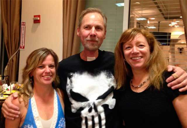 Kim Webster and Carol Maragos with patient Steve