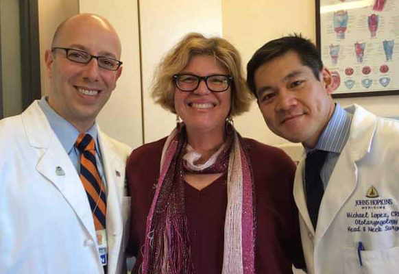 Roberta with Drs. Tufano and Lopez