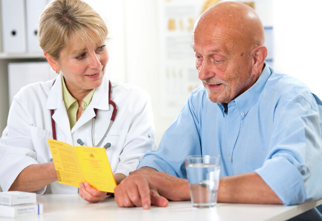 Doctor and patient working on speech therapy