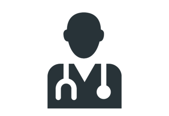 icon of doctor silhouette