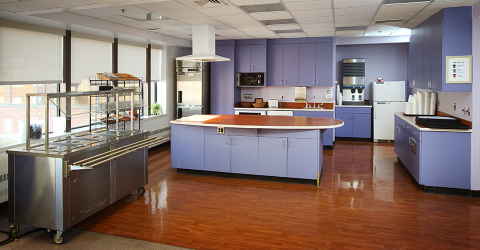 The kitchen on the Meyer floor.