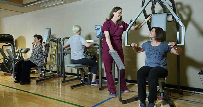 The physical therapy gym available to patients.