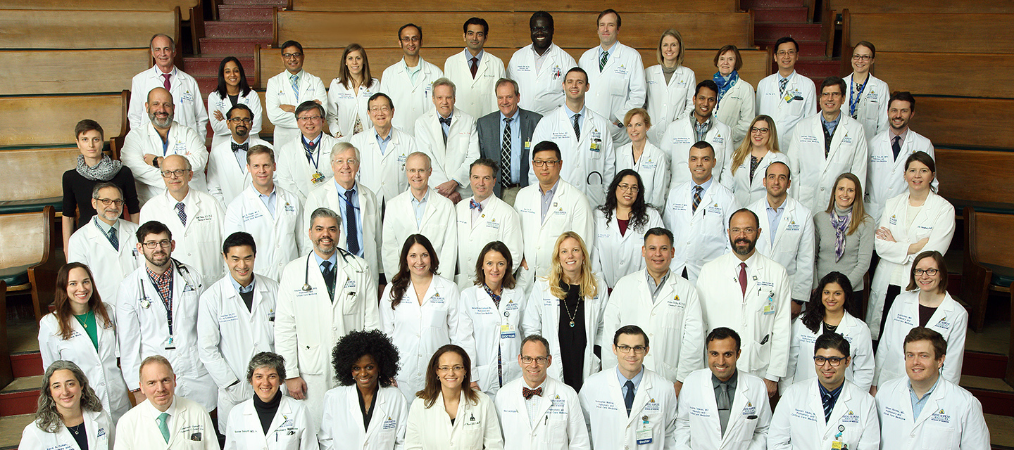 Pulmonary faculty pose for group photo