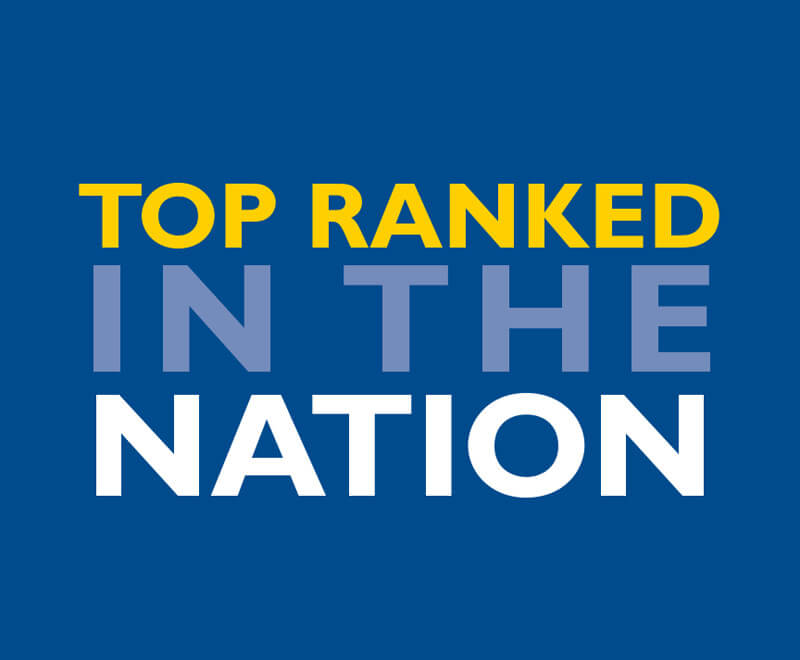 top ranked in the nation text