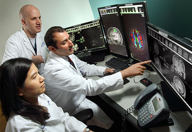 radiologists in reading room