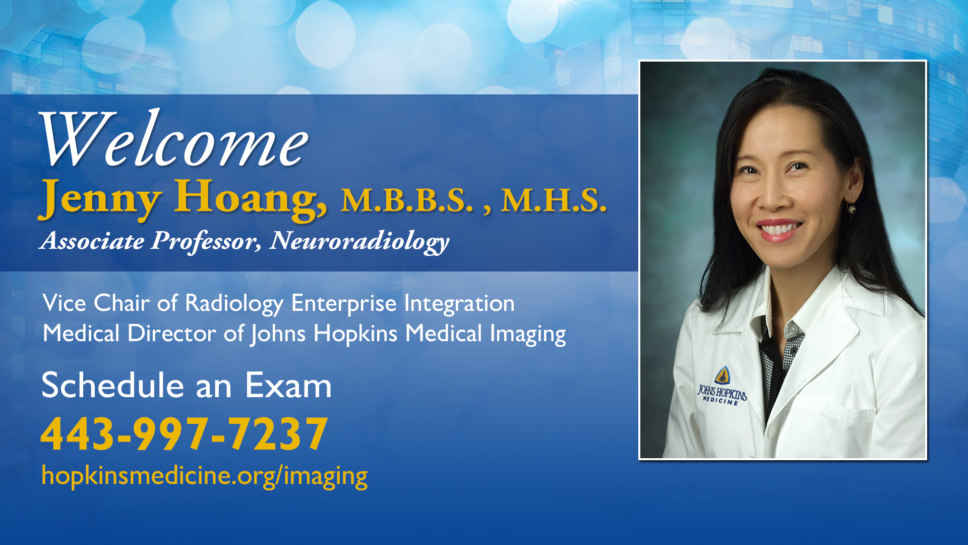 Jenny Hoang welcome screen