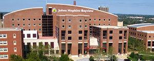 The exterior of Johns Hopkins Bayview Medical Center.