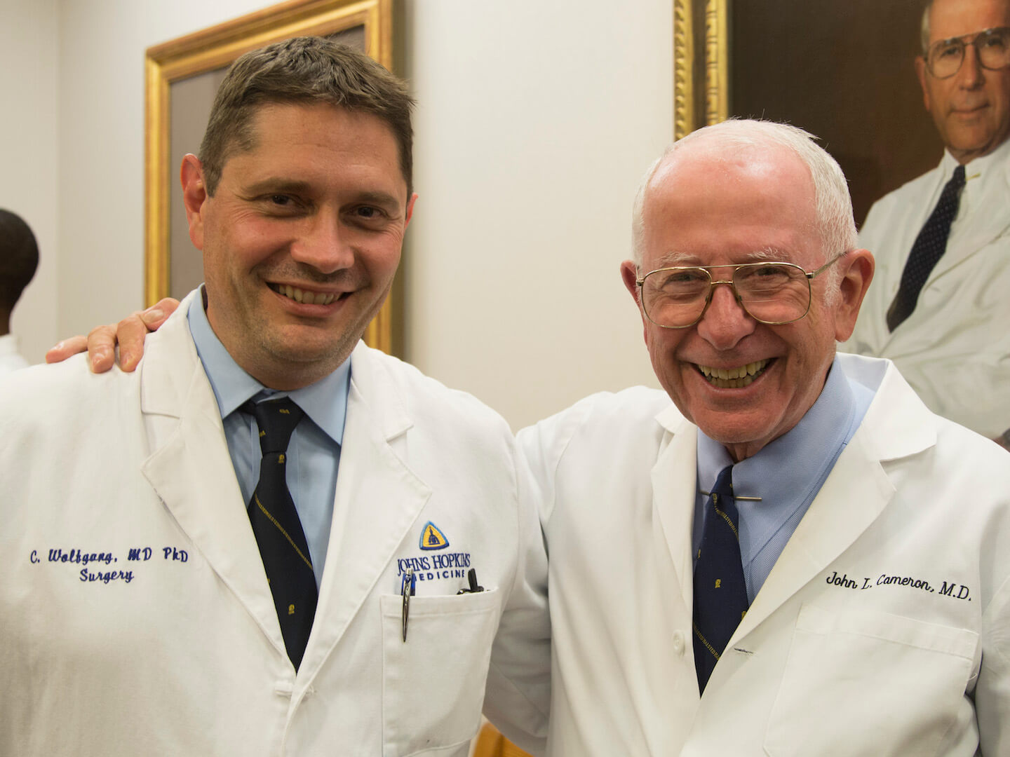Dr. John Cameron and Dr. Christopher Wolfgang