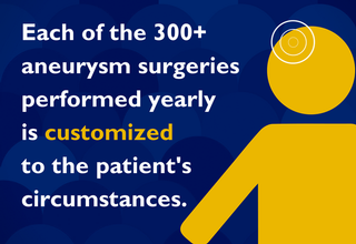 Aneurysm surgery is customized to the patient's circumstances.