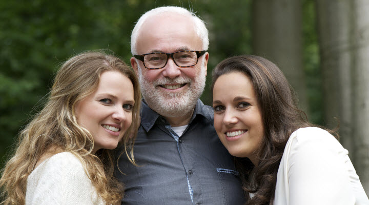 older man with daughters
