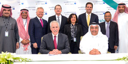 Aramco and Johns Hopkins group at signing