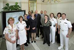 US Navy with Johns Hopkins Social Workers