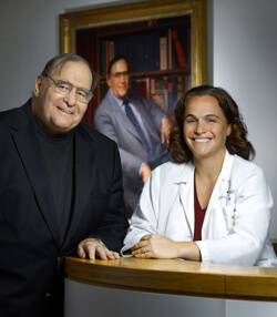 Rebecca Gottesman is the first recipient of the Guy McKhann Fellowship in Clinical Neuroscience, named after neuroscience powerhouse Guy McKhann (left).