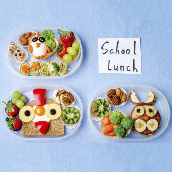 Fun packed lunches