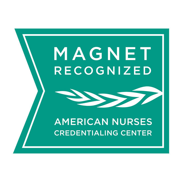 logo for Magnet Recognized from the American Nurses Credentialing Center