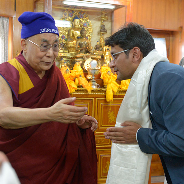 Dorjee and the Dalai Lama