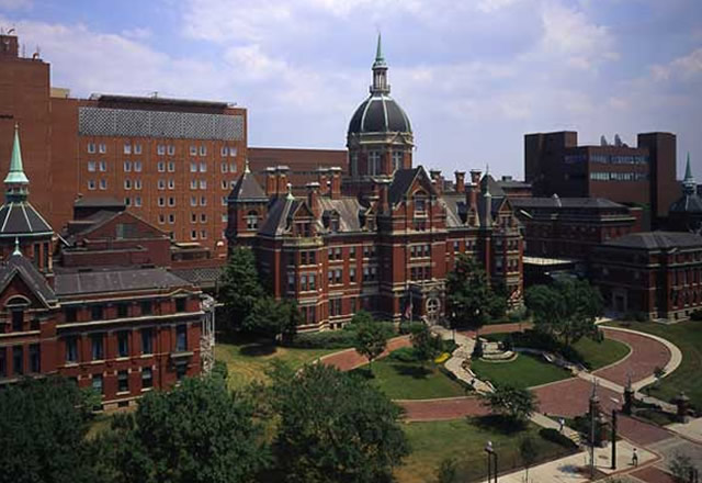 Photo of the Johns Hopkins Hospital dome building