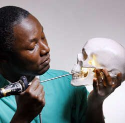 Kofi Boahene and his colleagues are now accessing the skull base through a new route.
