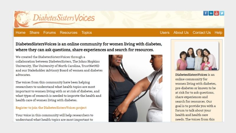 Website For Women With Diabetes Engages Patient Sharing
