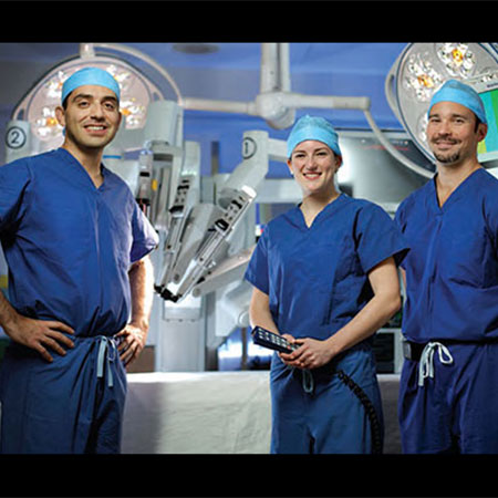 Drs. Allaf, Harris and Pierorazio in an operating room