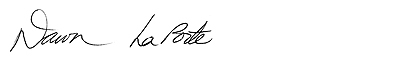 Dr. Dawn LaPorte's signature