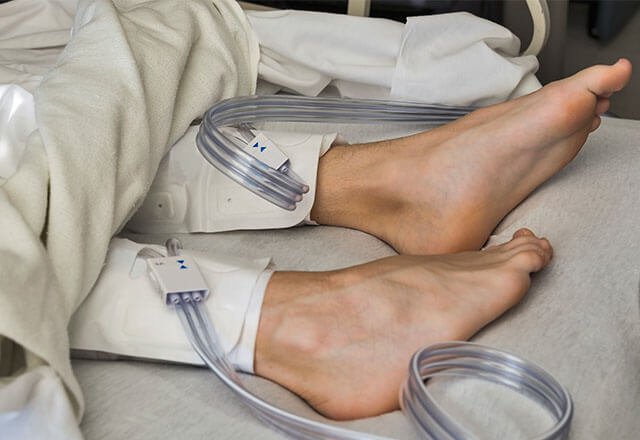 compression machine for legs in hospital