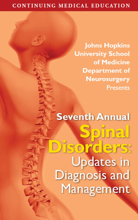 Spine Disorder Update brochure cover
