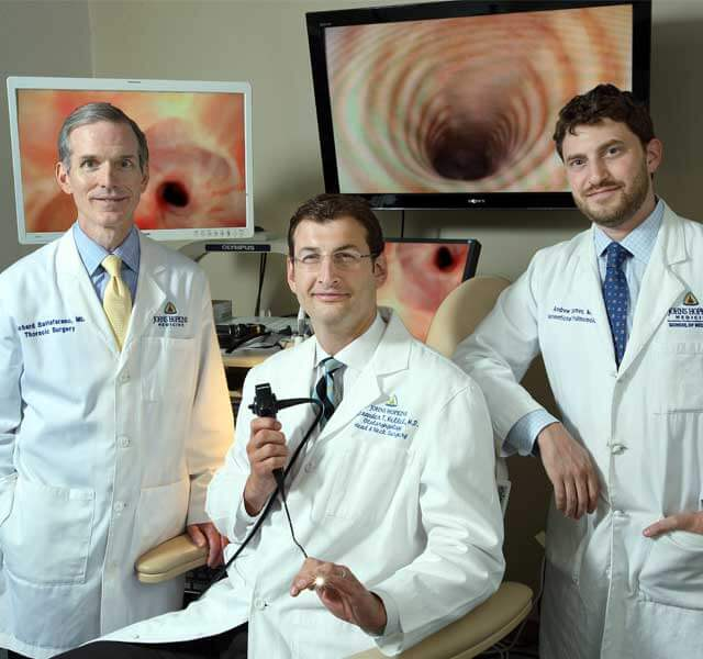 Dr. Hillel and the team of complex airway surgeons