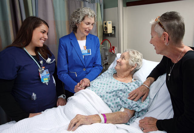 Visitor, patient and medical staff
