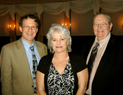 It wasn't just the medical care that inspired Janet and Mike Huff to give back; bedside manner played a role. When Janet realized that she'd forgotten to ask Kass (far left) several important questions about Mike's care years ago, she was especially impre