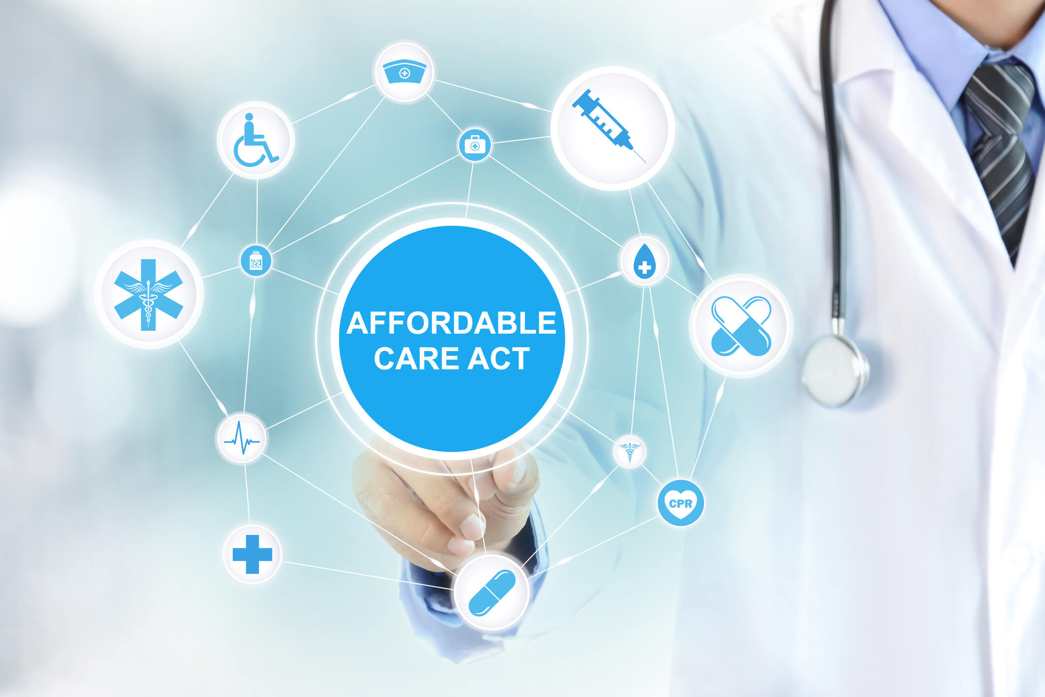 ACA- Affordable Cate Act Web Stock Image