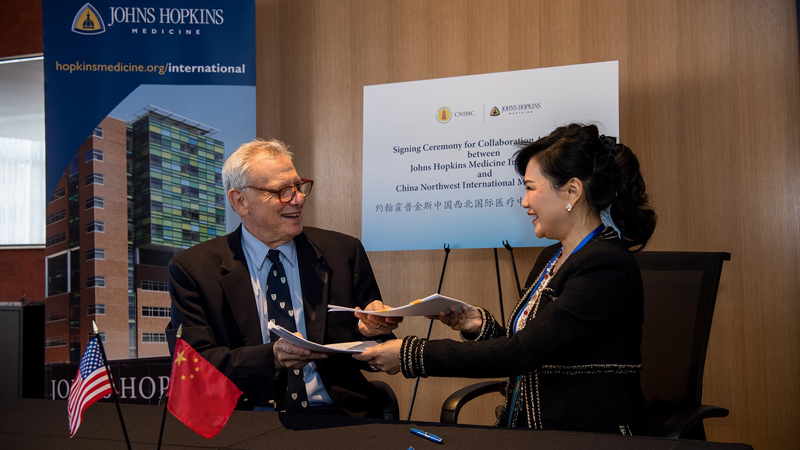 Johns Hopkins Medicine International Signs Consulting Agreement with China  Northwest International Medical Center