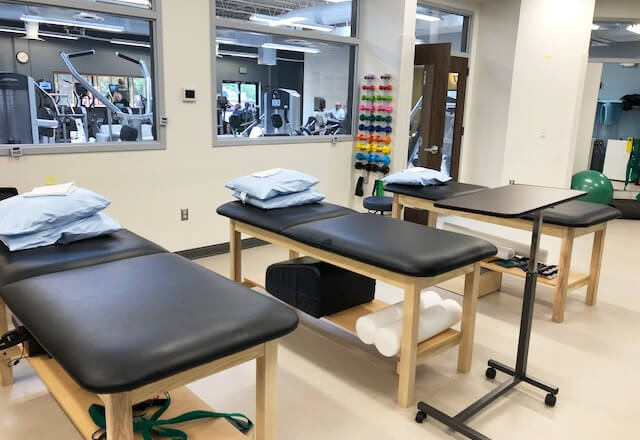 Johns Hopkins Rehabilitation Network clinic at acac Fitness & Wellness center in Timonium